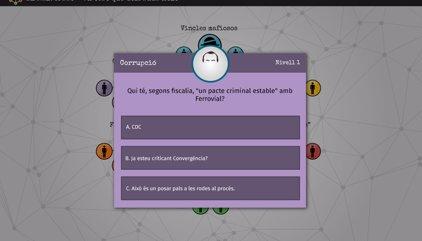 La CUP prepara un trivial en línia sobre la corrupció