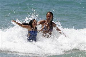 Paula Echevarría disfruta de unas divertidas vacaciones junto a su hija Daniela