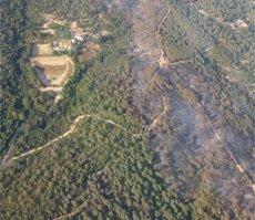 Controlat l'incendi forestal de Blanes després de cremar 27 hectàrees (BOMBERS DE LA GENERALITAT)