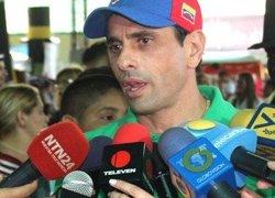 Capriles amenaça d'una sortida massiva als carrers si el TSJ obstaculitza el revocatori (PRENSA HENRIQUE CAPRILES)