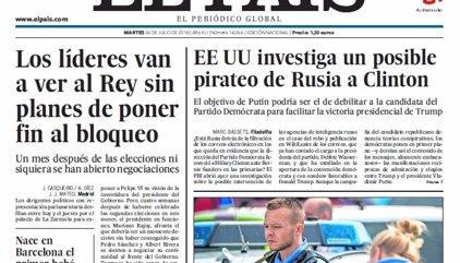 Las portadas de los periódicos de hoy, martes 26 de julio de 2016