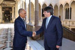 Puigdemont es reuneix a la Generalitat amb l'ambaixador de Mauritània (RUBEN MORENO GARCIA)