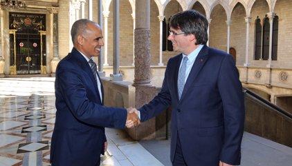 Puigdemont es reuneix a la Generalitat amb l'ambaixador de Mauritània