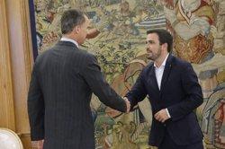 El Rei reprendrà la ronda de consultes i rebrà CDC, PNB i les confluències territorials de Podem (TWITTER @CASAREAL )