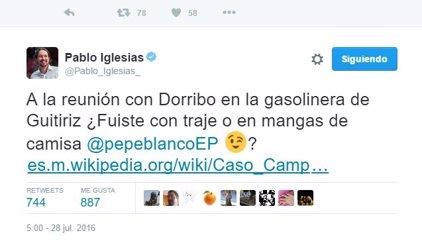 Rifirrafe entre José Blanco e Iglesias en Twitter por el atuendo en Zarzuela