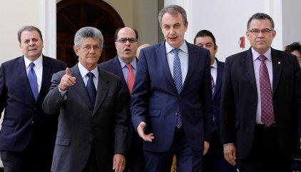 """Venezuela.- La MUD califica de """"muy provechosa"""" la última reunión con Zapatero por la crisis en Venezuela"""
