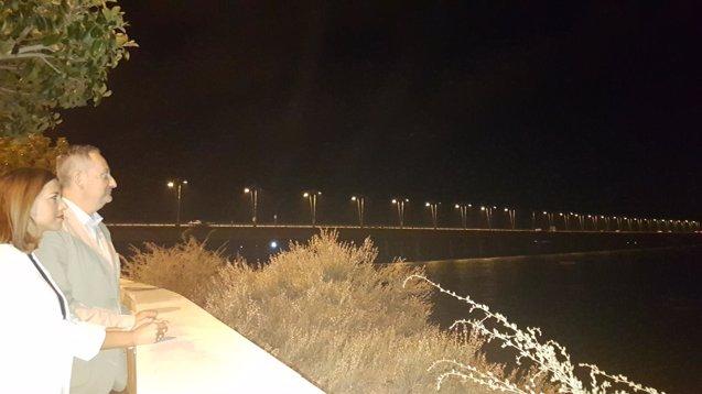 Foto: La Junta activa el encendido del puente del Odiel en Huelva tras finalizar la reparación (EUROPA PRESS/JUNTA DE ANDALUCÍA)