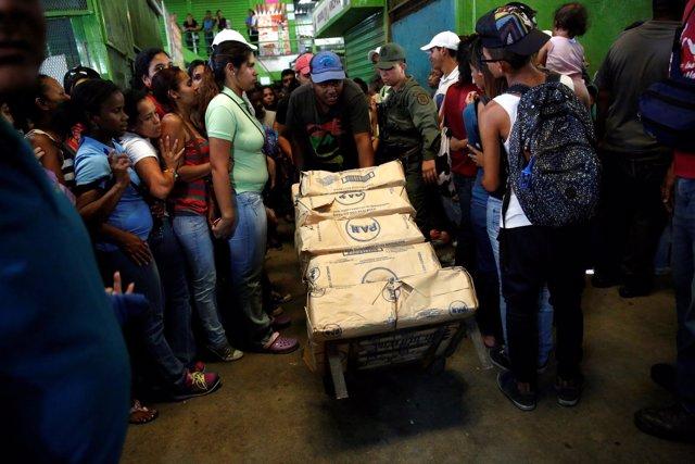 Comida, colas, alimentos, Venezuela