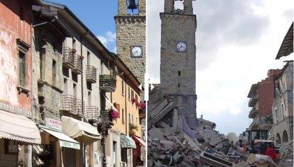 Terremoto en Italia: la destrucción de Amatrice, el antes y el después