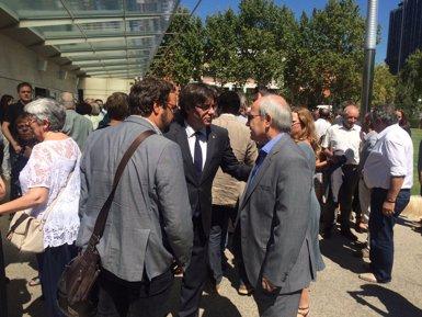 El funeral de Carbonell reuneix Puigdemont, Montilla, Pujol, Junqueras i Carod (EUROPA PRESS)