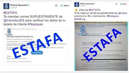 Las últimas estafas sobre las que alerta la Policía Nacional