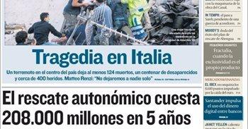 Las portadas de los periódicos económicos de hoy, jueves 25 de agosto