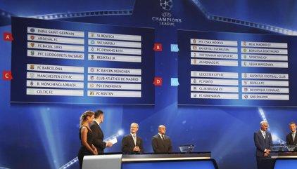 El sorteo depara grupos exigentes para Madrid, Atlético, FC Barcelona y Sevilla