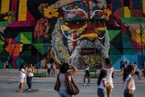 Foto: El mural Etnias de Río 2016 gana un premio récord Guinness (GUETTY)