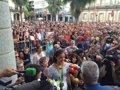 MILES DE ONUBENSES RECIBEN A CAROLINA MARIN EN HUELVA CON LA SALVE ROCIERA