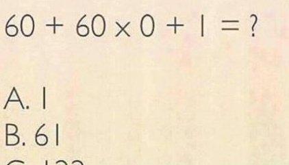 El nuevo problema matemático que confunde a muchos internautas