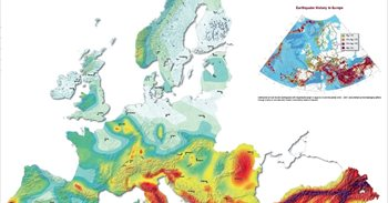 ¿Cuál es el riesgo sísmico en las diferentes áreas de Europa?