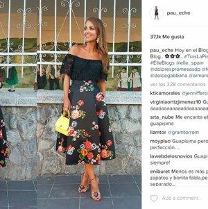 ¿Tienes una boda? Copia el look floral de Paula Echevarría