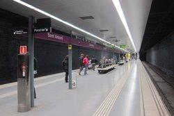 La línia 2 del metro restablirà el servei entre La Pau i Badalona Pompeu Fabra dilluns (EUROPA PRESS)
