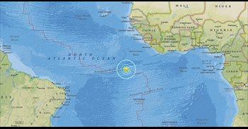 Registrado un terremoto de magnitud 7,4 en el Atlántico, cerca de la Isla...