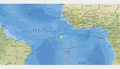 Registrado un terremoto de magnitud 7,4 en el Atlántico, cerca de la Isla de Ascensión