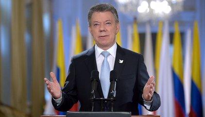 """Santos recalca que """"se acabó la guerra con las FARC"""" tras entrar en vigor el alto el fuego"""