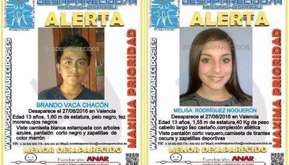 La Guardia Civil busca a dos menores de 13 años desaparecidos desde el sábado en Valencia