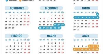 Calendario escolar para el curso 2016-2017