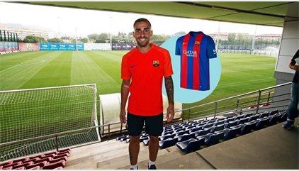 El Barcelona ya sortea camisetas de Alcácer