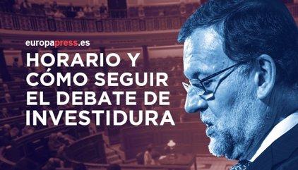 Horario y cómo seguir el debate de investidura de Mariano Rajoy