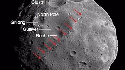 Solución al misterio de los surcos de la luna Fobos de Marte