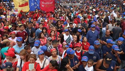 El Gobierno venezolano llama al 'chavismo' a una contramanifestación el 1 de septiembre