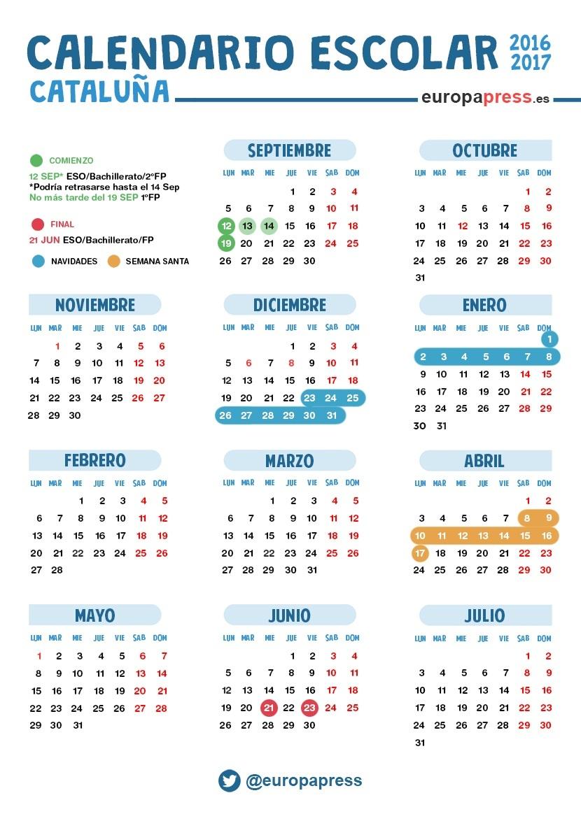 Calendario escolar 2016/2017 en Catalunya: Navidad, Semana Santa y ...