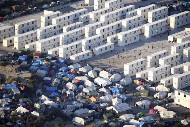 Vista aérea de la 'Jungla' de Calais