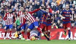 Messi, tres setmanes de baixa per un trencament a l'adductor de la cuixa dreta (ÁNGEL GUTIÉRREZ)