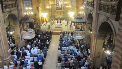 Omella demana a unitat als líders catalans en la seva primera missa per La Mercè