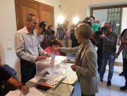 Zabala espera que Elkarrekin Podem tingui bons resultats i anima als bascos a votar (PILI ZABALA)