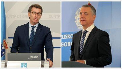 Feijóo y Urkullu seguirán gobernando, PSOE se hunde en Euskadi y queda tercero en Galicia