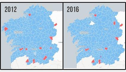 Resultados elecciones gallegas 2016 | ¿Quién ha ganado en cada municipio?