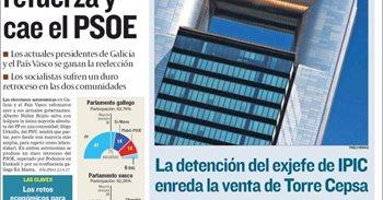 Las portadas de los periódicos económicos de hoy, lunes 26 de septiembre