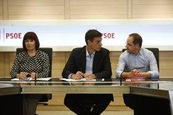 Pedro Sánchez rep el rebuig del sector andalús en l'executiva, a més de Chacón (EUROPA PRESS)