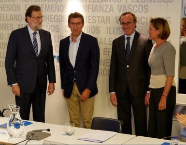 """Rajoy diu estar """"orgullós"""" de tenir un partit """"unit"""" front el debat intern del PSOE (TWITTER DE ALFONSO ALONSO)"""
