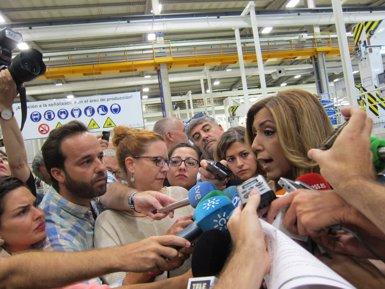 """Susana Díaz sobre si optarà a la direcció del PSOE: """"Estaré on em posin els meus companys, al cap o a la cua"""" (EUROPA PRESS)"""