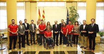 Lambán reconoce el esfuerzo de los olímpicos y paralímpicos aragoneses