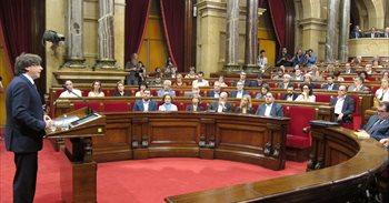 """Carles Puigdemont a la CUP: """"O se aprueban los Presupuestos o convocaré..."""