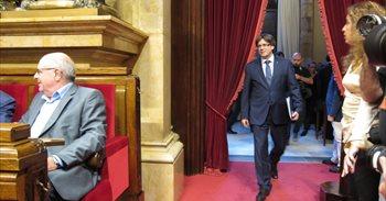 AV.- Carles Puigdemont anuncia un referéndum de independencia para otoño...