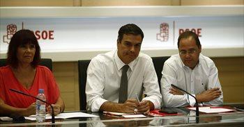 Listado de miembros de la Ejecutiva del PSOE que han presentado su...