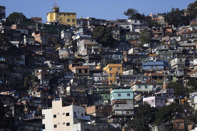 La favela brasileña de Rocinha, en Río de Janeiro.