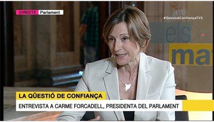 """Forcadell diu que el referèndum serà vinculant """"sota la legalitat catalana"""""""