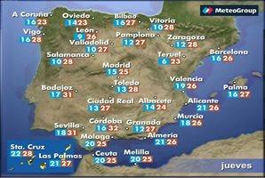 Previsión del tiempo para este jueves 29 de septiembre
